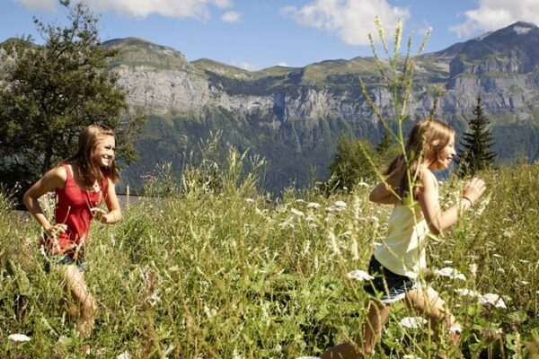 Enfants montagne